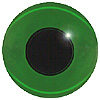 Pack of 3 Green Teddy Bear Eyes. An 'old fashioned' style eye where the glass is coloured and the eye is not painted on the back. Single loop fixing.