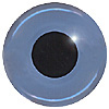 Pack of 3 Blue Teddy Bear Eyes. An 'old fashioned' style eye where the glass is coloured and the eye is not painted on the back. Single loop fixing.Colour may vary.