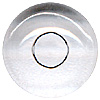 Mammal Glass Eyes. A high quality crystal concave/convex eye with a round transparent pupil for self painting.