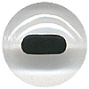 Mammal Glass Eyes. A high quality crystal concave/convex eye with a black painted oval pupil.