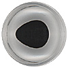Special Offer - A high quality aspheric crystal fish eye with a fired black enamel pupil. Designed for self painting.