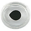 Special Offer - A high quality crystal fish eye slightly oval in shape with a directional look and a fired black enamel pupil. Designed for self painting.