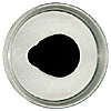 Special Offer - A new shape crystal fish eye with an aspheric profile and a defined iris shape set into the eye. Fired black enamel pupil designed for self painting.