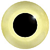 Yellow Glass Bird Eyes. Concave/Convex monochrome bird eyes made from crystal and hand painted.