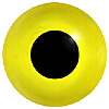 Special Offer - Yellow Glass Bird Eyes. Concave/Convex monochrome bird eyes made from crystal and hand painted.