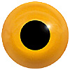 Special Offer - Orange Glass Bird Eyes. Concave/Convex monochrome bird eyes made from crystal and hand painted.