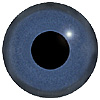 Dark Blue Glass Bird Eyes. Concave/Convex monochrome bird eyes made from crystal and hand painted.