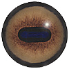 Red Deer Eye. A popular concave/convex eye with an oval pupil and an accurately coloured and blended iris.