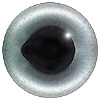 Special Offer - Silver Salmon Eye. European style multicolour fish eyes on wire made by hand from crystal glass and painted and fired for a permanent finish.