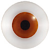 Brown/Red Doll Eyes. Very lifelike doll eyes for collectors dolls and toys. Set on wire for coiling into loops for stitching.