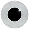 Grey Glass Bird Eyes. A single colour iris with a black pupil on wire. Ideal for stickmaking and Decoy carving.