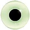 Light Green Glass Bird Eyes. A single colour iris with a black pupil on wire. Ideal for stickmaking and Decoy carving.