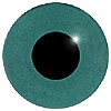 Dark Green Glass Bird Eyes. A single colour iris with a black pupil on wire. Ideal for stickmaking and Decoy carving.