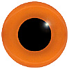 Orange Glass Bird Eyes. A single colour iris with a black pupil on wire. Ideal for stickmaking and Decoy carving.