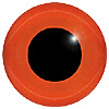 Orange - Red Glass Bird Eyes. A single colour iris with a black pupil on wire. Ideal for stickmaking and Decoy carving.