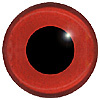 Red Glass Bird Eyes. A single colour iris with a black pupil on wire. Ideal for stickmaking and Decoy carving.
