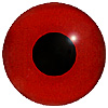 Dark Red Glass Bird Eyes. A single colour iris with a black pupil on wire. Ideal for stickmaking and Decoy carving.