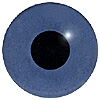 Dark Blue Glass Bird Eyes. A single colour iris with a black pupil on wire. Ideal for stickmaking and Decoy carving.
