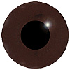 Dark Brown Glass Bird Eyes. A single colour iris with a black pupil on wire. Ideal for stickmaking and Decoy carving.