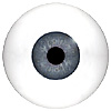 Mannequin Human or Doll eyes without veins. This is the closest to a prosthetic eye available for the price. Ideal for close up camera work or display models.