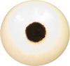 White Puffin Acrylic eyes. This revolution in bird eye technology was created by award winning taxidermist Erling Merch. Created in crystal clear acrylic  this natural looking eye has an accurately blended iris and a beautifully feathered pupil set at the correct depth to give the most natural all round look.