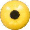 EM09-07 Yellow Acrylic eyes. This revolution in bird eye technology was created by award winning taxidermist Erling Merch. Created in crystal clear acrylic  this natural looking eye has an accurately blended iris and a beautifully feathered pupil set at the corr